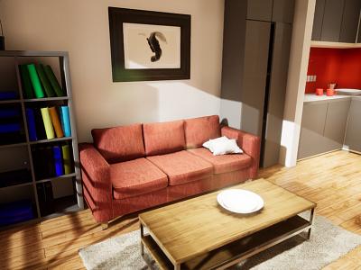 Studio Apartament | visualization #08 unreal engine 4 interior architecture archvis architecture architectural visualization