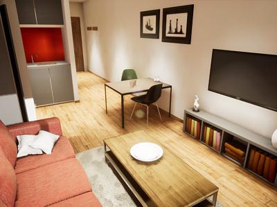 Studio Apartament | visualization #09 unreal engine 4 interior architecture archvis architecture architectural visualization