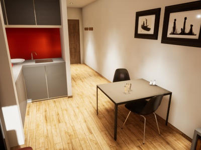 Studio Apartament | visualization #10 unreal engine 4 interior architecture archvis architecture architectural visualization