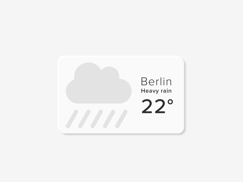 Daily UI 036 berlin weather ui button design design soft ui neumorphic neumorphism daily ui daily ui 036