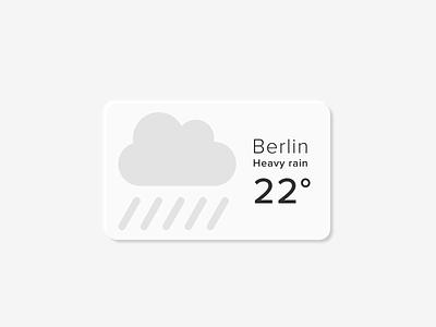 Daily UI 036 berlin weather ui button design design soft ui neumorphic neumorphism daily ui daily ui 036