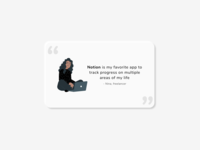Daily UI 039 notion testimonial illustration soft ui uidesign daily ui 039 dailyui039 ui neumorphic neumorphism