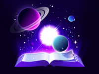 Read More nature reading saturn artwork cosmos stars star believe idea image fantastic fantasy imagination book planet space galaxy illustration prokopenko proart