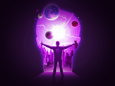 Edge of the Foundation asimov foundation negative space space cover person face silhouette energy force power future city man planet radiance illustration prokopenko proart galaxy