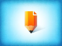 Pencil icon icons logo cute pencil pen yellow wood