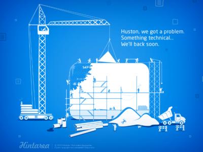 Hintarea Under Construction Page under construction error hintarea pages blue