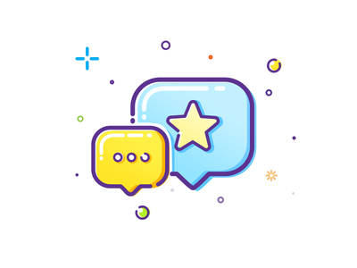 Dialog icon mbe vector illustration icon star dialog