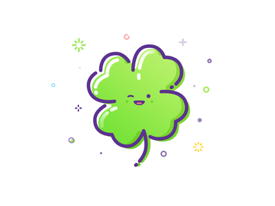 You are lucky today! happy wink smile leaf trefoil clover mbe illustration luck