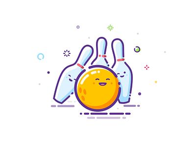 Bowling friends trend illustration hit inspiration cuddle embrace hugs popular fun glob bowl sphere prokopenko proart skittle ball kegling mbe bowling friends