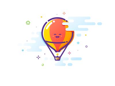 Balloon popular up warmly soaring soar joy flight trend prokopenko lovely nice cute smile happy proart mbe cloud aerostat air balloon