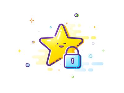 Blocked star set trend prokopenko proart closed block collection spark ban happy mbe locking smile locked padlock star