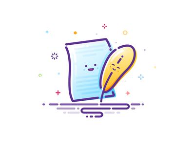 Letter and pen popular trend style quiz writers exam prokopenko proart writer writing joy smile inscription mbe paper sheet text pen letter