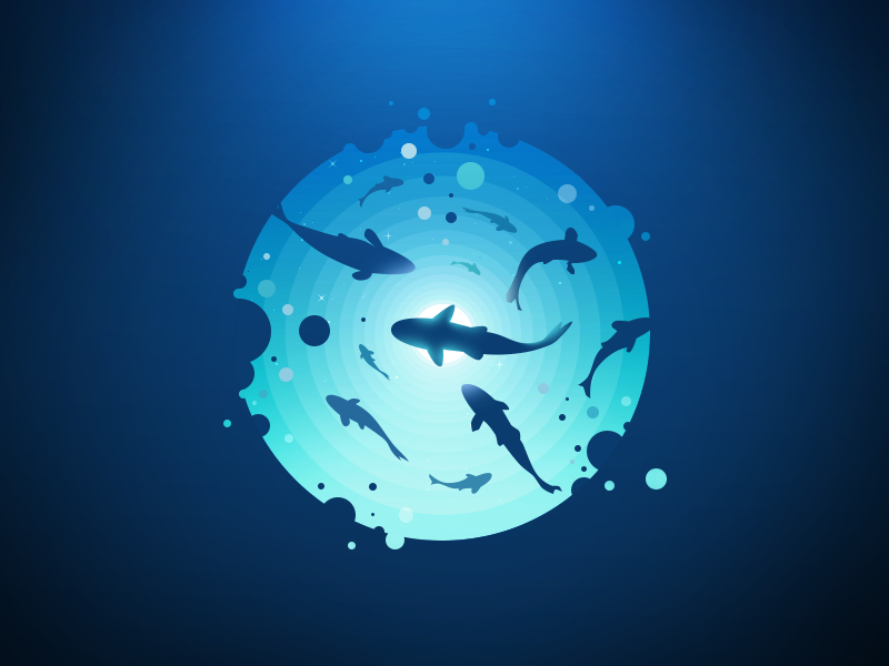 Undersea world nature forest landscape submarine submersed subsurface subaqueous underseas undersea illustration prokopenko proart underwater negative radiance depth sea fish water