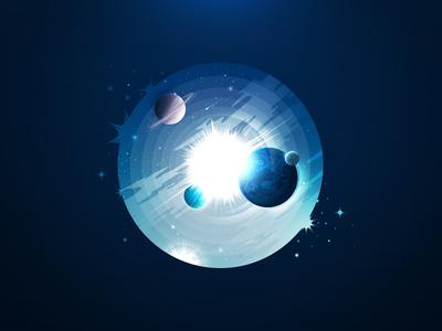 Space negative landscape vacuum system macrocosm cosmos world universe trend prokopenko proart galaxy radiance satellite constellation orbit nebula star planet space