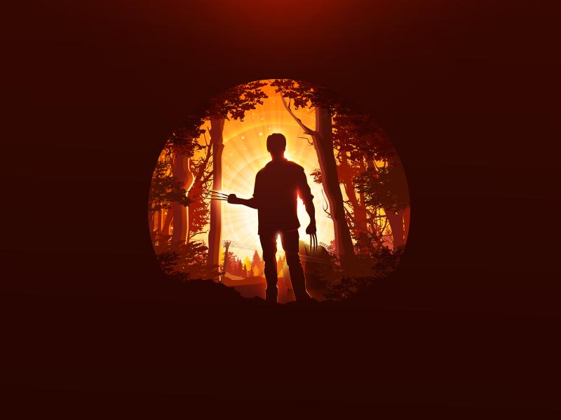 Logan x-men proart prokopenko trend cinema poster hero claws forest mutant wolverine logan