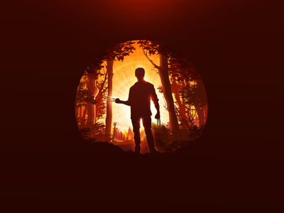 Logan xman landscape nature marvel x-men proart prokopenko trend cinema poster hero claws forest mutant wolverine logan