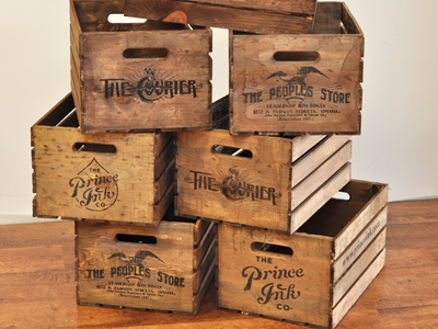 Vintage inspired crates