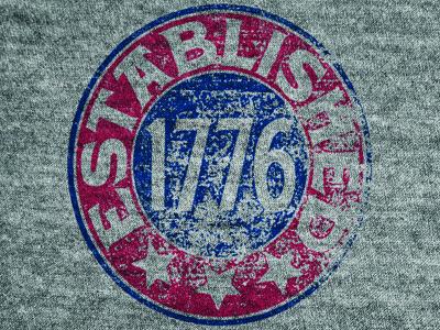 Established 1776 1776 screen print distress vintage america