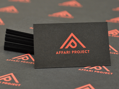 Affari Project Business Cards screen print affari business cards duplex paper coral