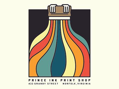 Print the Rainbow pin norfolk virginia shirt screen print