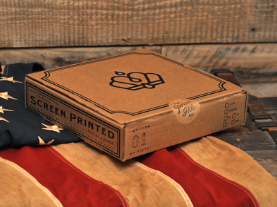 One of a kind box mystery screen print stamp american flag shirts packaging limited edition