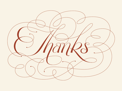 Just Thanks lettering