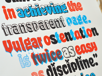 James Edmondson AIGAHR prints aiga poster screen print overlay type