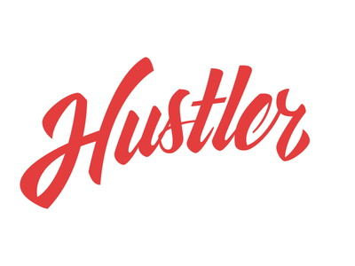 Hustler WIP lettering hustler wip