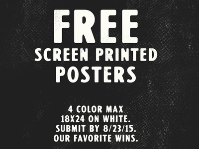 Poster contest posters screen print free competition contest