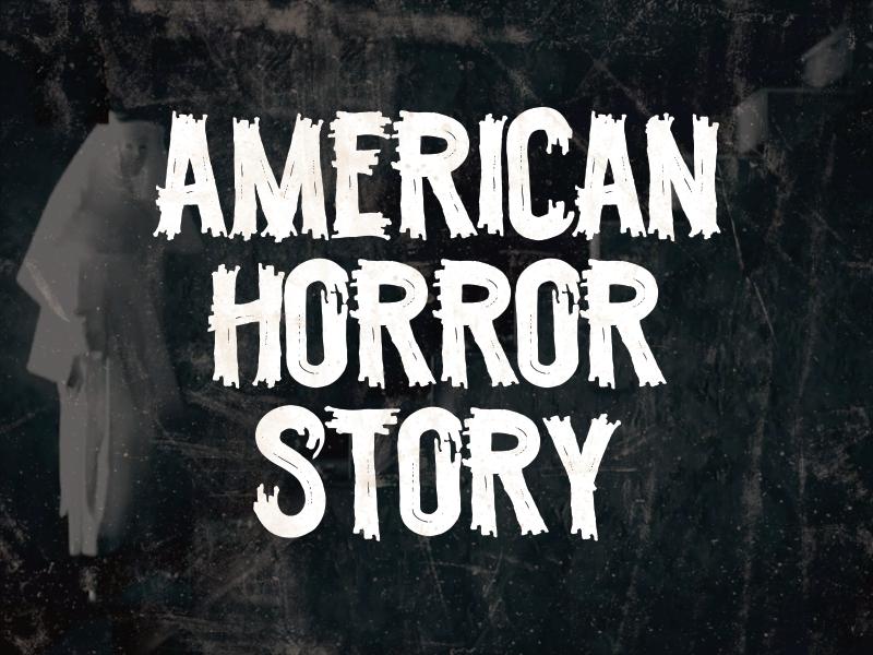 Scratchy october halloween horror font type