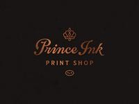 Prince Ink logo david smith print lettering crown logo prince ink