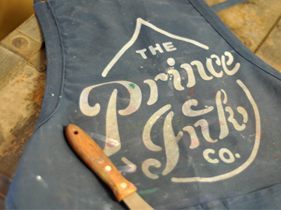 Prince Ink Apron apron screen print ink dustin wallace put in work spatula