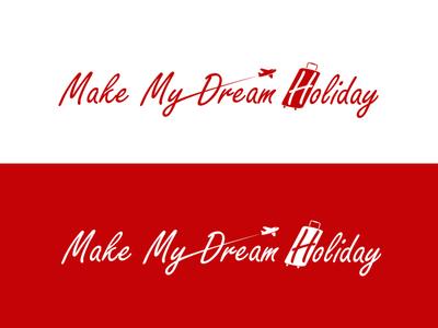 Make My Dream Holiday icon dribbble branding logo vector illustration design