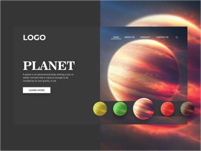 Planet Web planets webpage uiuxdesigner uiuxdesign uiux layout design layout websites website design website weblayout web design