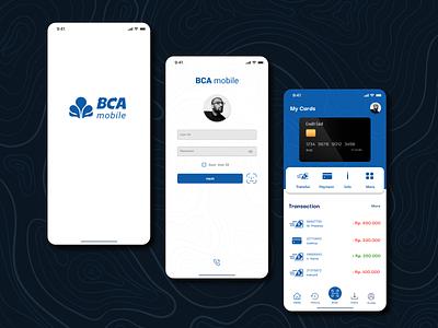Mobile Banking App BCA - Redesign branding mobile banking mobile app minimal app design