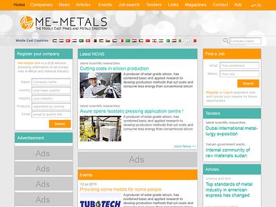 Me-metals.com UI/UX/IA Design - 2015 content management system content design ux design