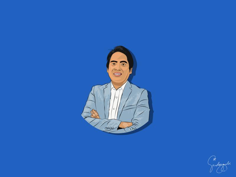 D' Boss vector vector illustration vector art self portrait illustration
