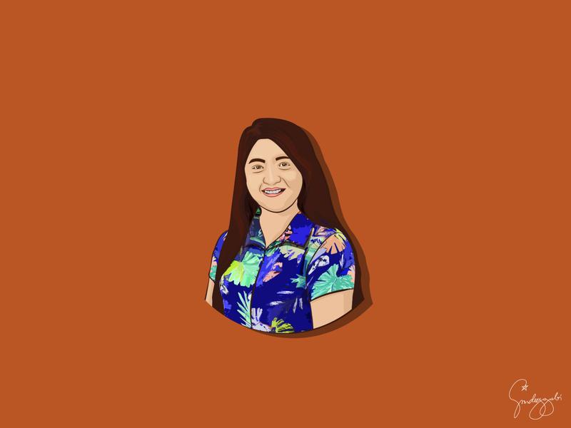 Woman Vector Illustration vector vector illustration vector art self portrait illustration