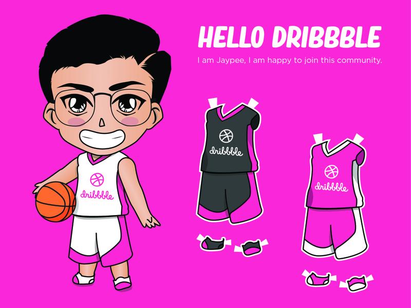 My Dribbble entry as a chibi doll <3 vector art character chibi vector vector illustration illustration