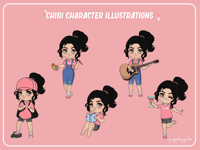 Chibi Character Illustration character chibi vector vector illustration vector art illustration