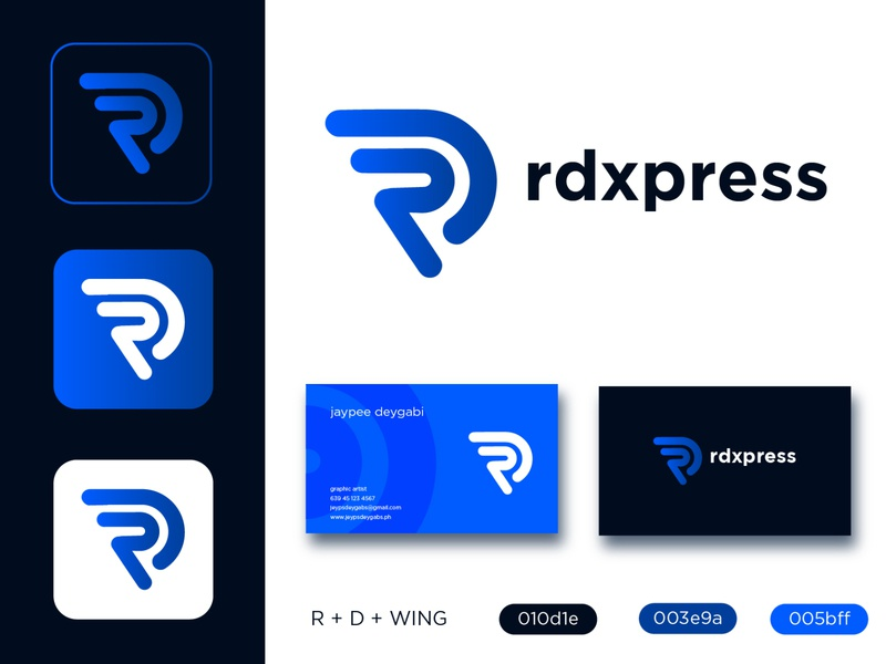 Delivery Courier Logo Design - rdxpress logodesign delivery express logo emblem delivery logo logo design delivery service logo delivery app logo delivery service branding logo