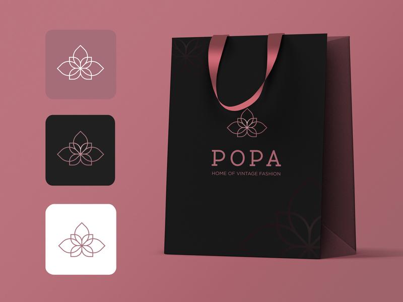 Shopping Bag Mock up-Black for POPA branding design shopping bag mockup mockup branding design