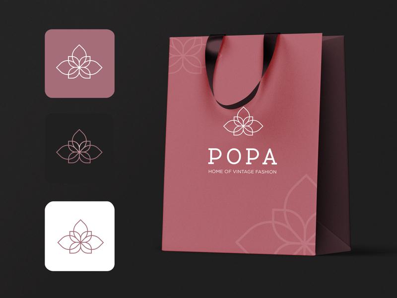 Shopping Bag Mock up-Pink for POPA branding design shopping bag mockup mockup design branding