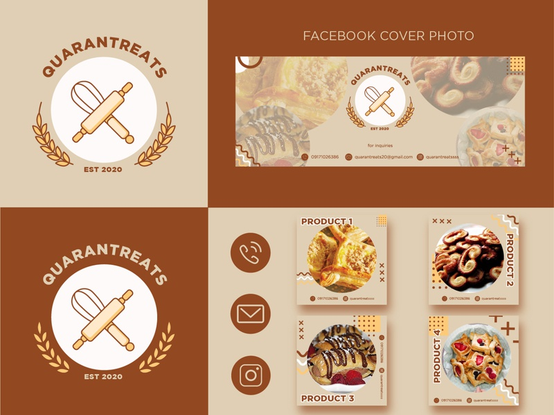 Social Media Assets for Pastry Business branding design pastry shop social media design pastry shop social media asset social media design mockup