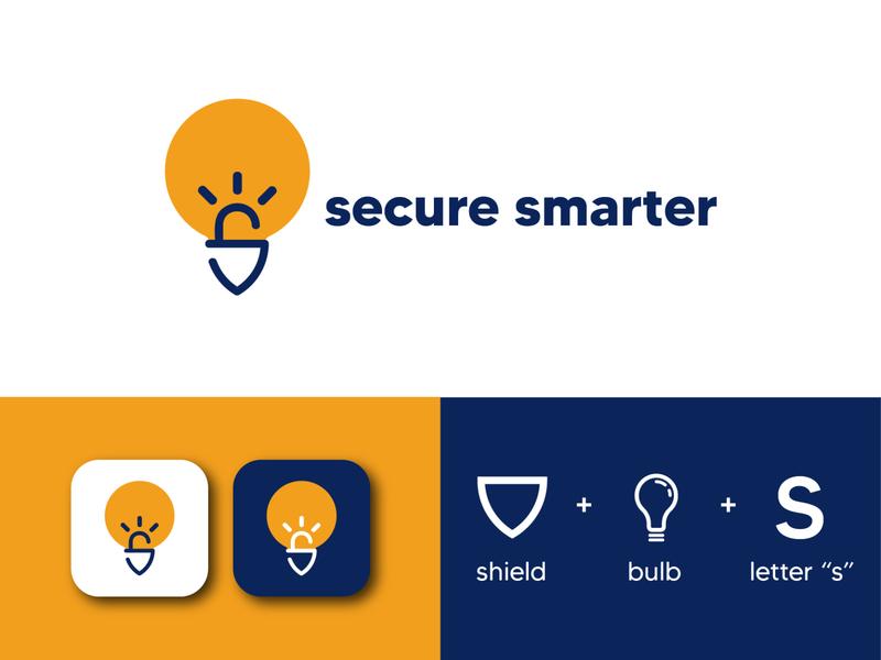 """Secure Smarter Logo- Logo Mark """"S"""" branding concept logo design branding brand identity logos logo mark web security logomark branding design branding logo designs logodesign business logo business logo design"""