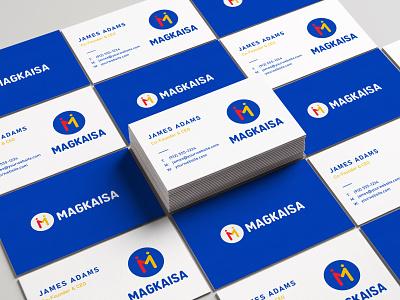 MAGKAISA Business Cards MockUp businesscard logodesign branding design design logo branding
