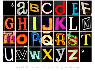 NYC Times Square Typography Poster typography print type