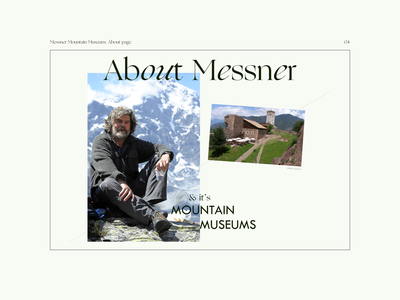 Messner Mountain Museum ― website redesign concept minimalism about design redesign inspiration ux web design ui typography museum minimal composition uxui