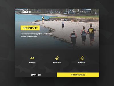 BOSFIT Training Website web design responsive study case gym training fitness branding website