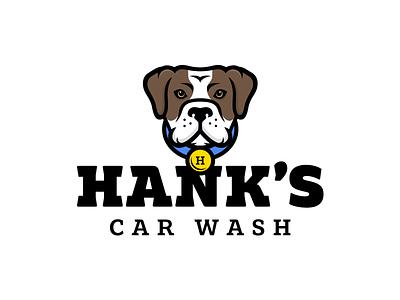 Hank's Car Wash esport logo dog logo sports bulldog esports mascot esport hank animal wash dogwash dog carwash